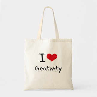 I love Creativity Budget Tote Bag
