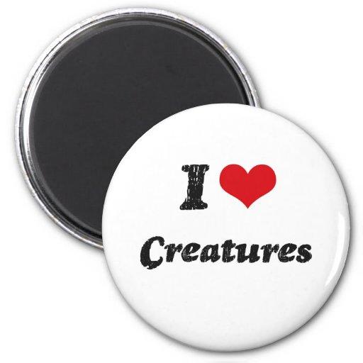 I love Creatures Refrigerator Magnets
