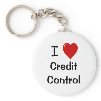I Love Credit Control - I Heart Credit Control keychain