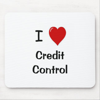 I Love Credit Control Mouse Pad