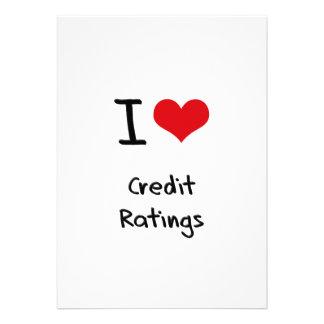I love Credit Ratings Card