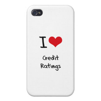 I love Credit Ratings Case For iPhone 4