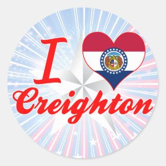 I Love Creighton, Missouri Round Stickers
