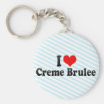 I Love Creme Brulee Basic Round Button Key Ring