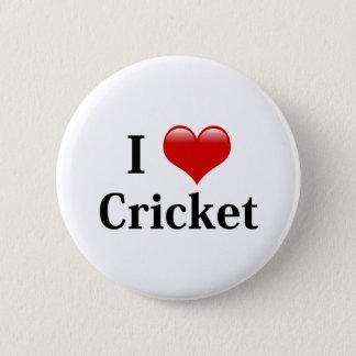 I Love Cricket 6 Cm Round Badge