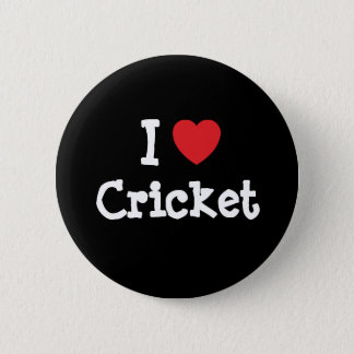 I love Cricket heart custom personalized 6 Cm Round Badge