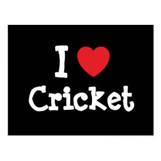 I love Cricket heart custom personalized Postcards