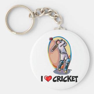I Love Cricket Key Ring