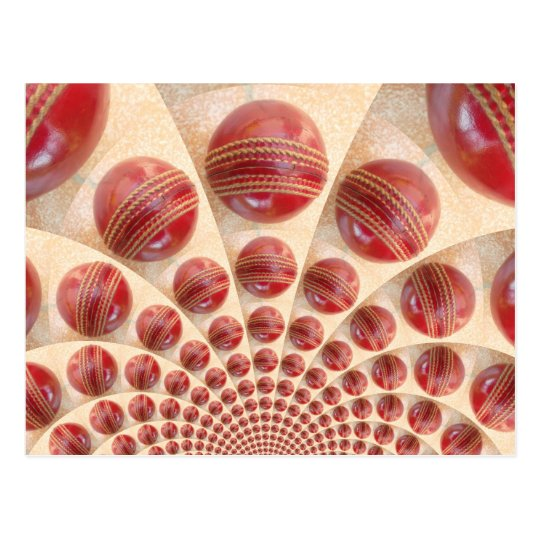 i Love Cricket Red Balls Customise Product Postcard