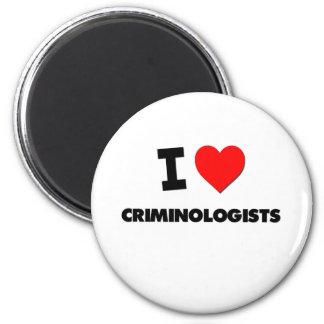 I Love Criminologists 6 Cm Round Magnet