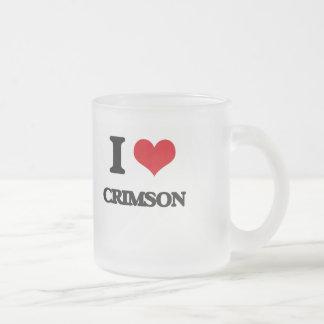 I love Crimson Frosted Glass Mug