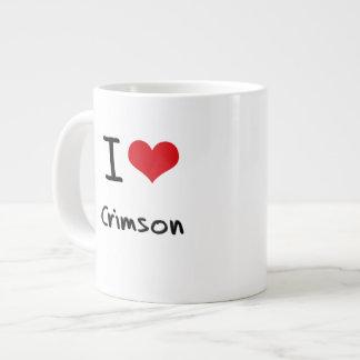 I love Crimson Extra Large Mug