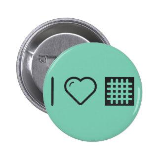 I Love Criss Lines 6 Cm Round Badge