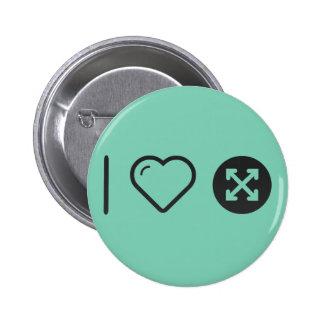 I Love Criss Patterns 6 Cm Round Badge