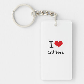 I love Critters Double-Sided Rectangular Acrylic Key Ring