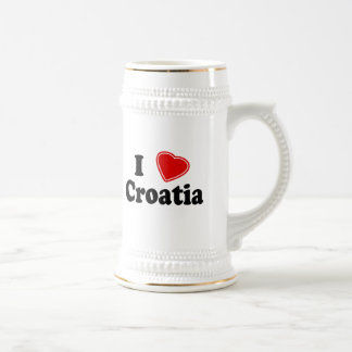 I Love Croatia Beer Stein