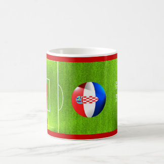 I Love Croatia football soccer flag mug