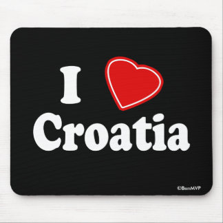 I Love Croatia Mouse Mat