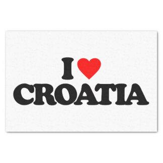 I LOVE CROATIA TISSUE PAPER
