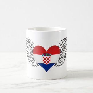 I Love Croatia -wings Coffee Mug