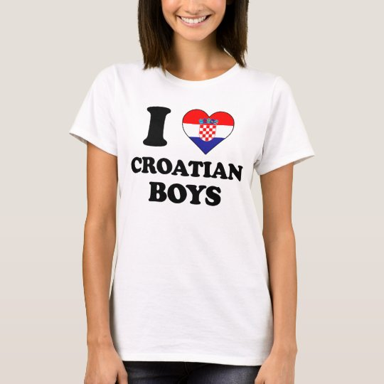 I love Croatian Boys T-Shirt
