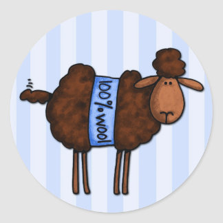 i love crochet classic round sticker