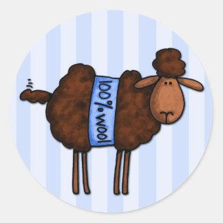 i love crochet round sticker