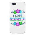 I LOVE CROCHETING CASE FOR iPhone 5/5S