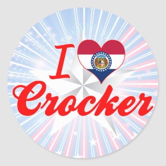 I Love Crocker Missouri Stickers