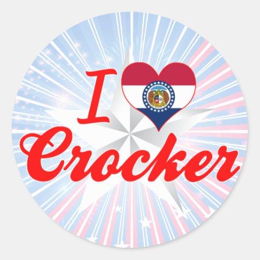I Love Crocker, Missouri Stickers