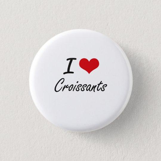 I Love Croissants artistic design 3 Cm Round