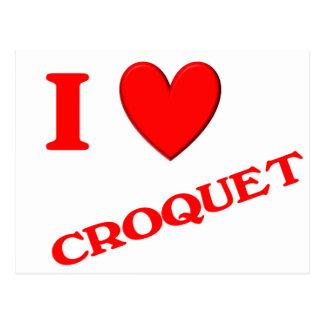 I Love Croquet Postcards