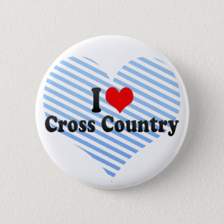 I Love Cross Country 6 Cm Round Badge