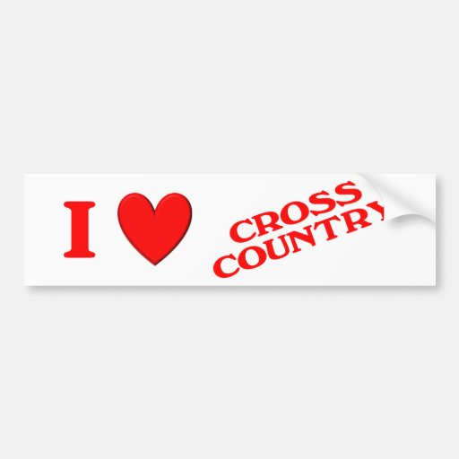 I Love Cross Country Bumper Stickers