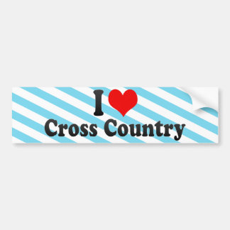 I Love Cross Country Bumper Sticker