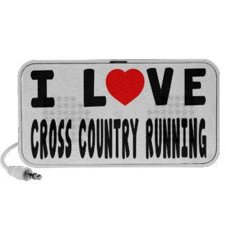 I Love Cross Country Running Portable Speaker