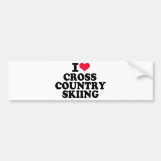 I love Cross Country Skiing Bumper Sticker