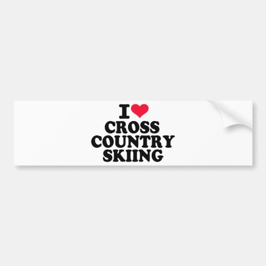 I love Cross Country Skiing Bumper Sticker