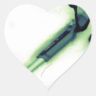 I Love Cross Country Skiing Heart Sticker