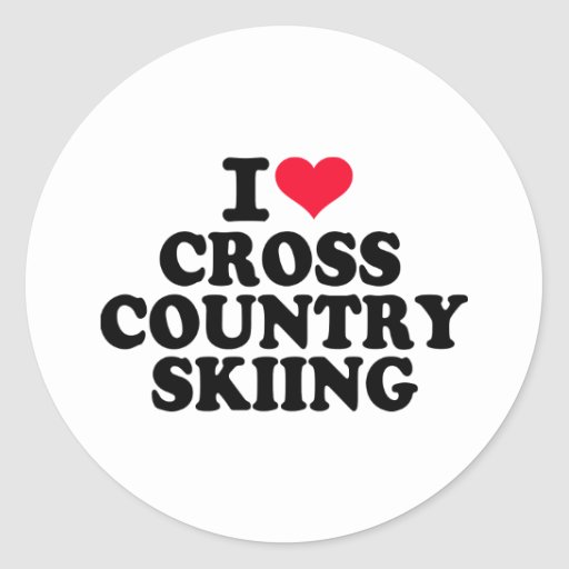 I love Cross Country Skiing Stickers