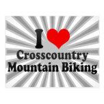 I love Crosscountry Mountain Biking Post Card