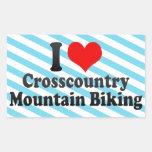 I love Crosscountry Mountain Biking Stickers
