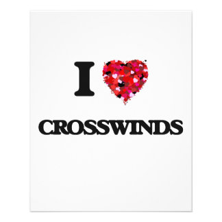 I love Crosswinds 11.5 Cm X 14 Cm Flyer