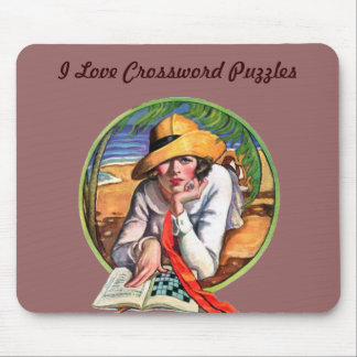 I Love Crossword Puzzles Mouse Mat