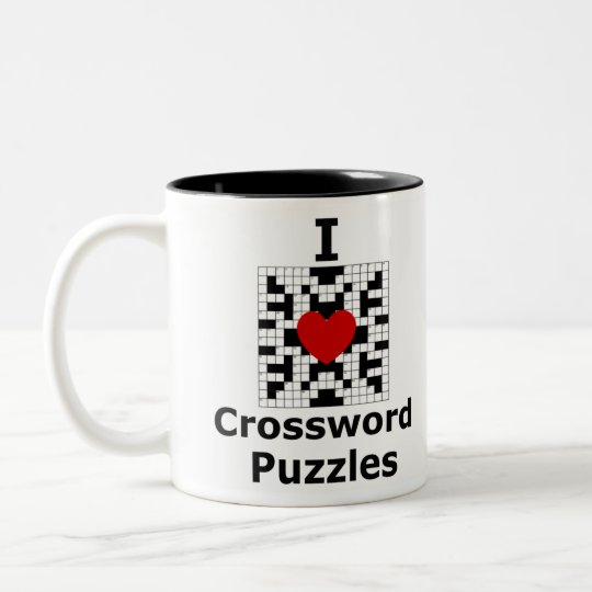 I Love Crossword Puzzles Two-Tone Coffee Mug