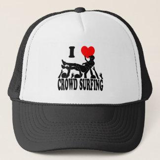 I Love Crowd Surfing (male) (blk) Trucker Hat