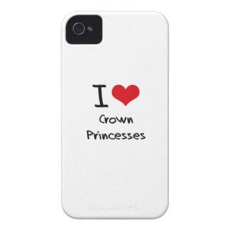 I love Crown Princesses iPhone 4 Case