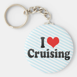 I Love Cruising Basic Round Button Key Ring