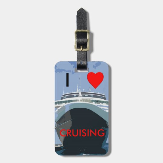 I LOVE CRUISING Customisable Luggage Tag