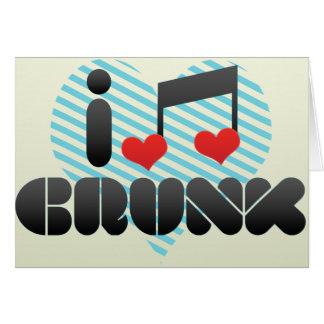 I Love Crunk Greeting Card